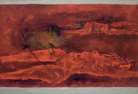 Maqbool Fida Husain-Untitled (Mustafa)-1977