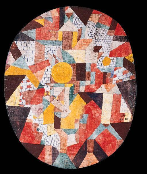 Paul Klee-Vollmond In Mauern (Full Moon Within Walls)-1919