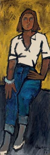 Maqbool Fida Husain-Paola-1958