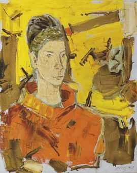 Maqbool Fida Husain-Untitled (Portrait of Deborah)-1967
