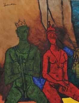 Maqbool Fida Husain-Untitled (Paris Suite)-