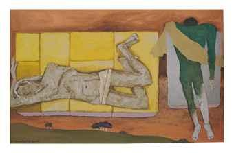 Maqbool Fida Husain-That Obscure Object of Desire III-