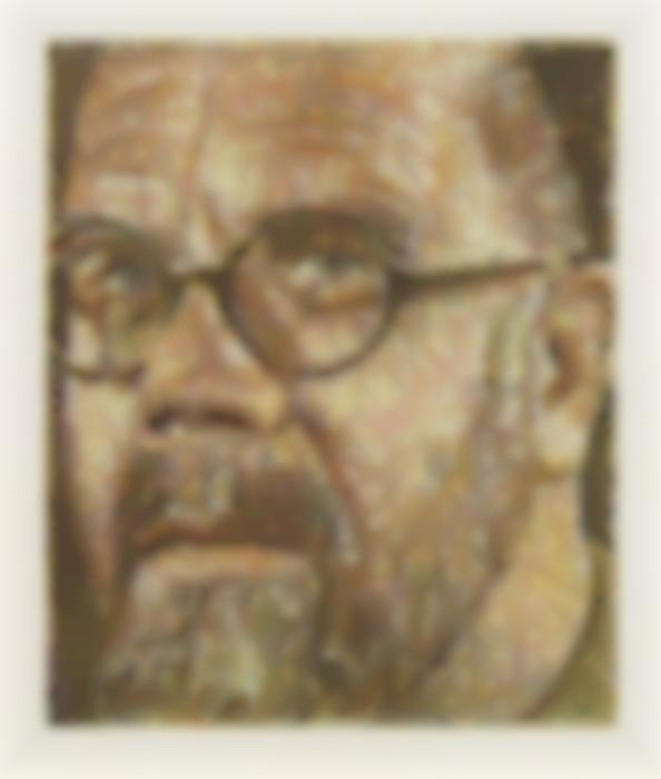 Chuck Close-Self-Portrait / Squiggle / Scribble / Etching-2000