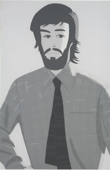 Alex Katz-Plaid Shirt 2 / Grey Shirt (Maravell 128)-1981