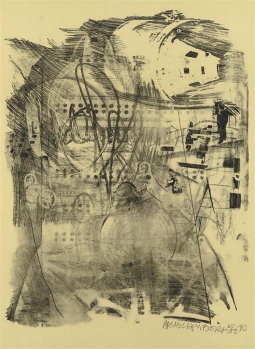 Robert Rauschenberg-Robert Rauschenberg - Strawboss (From Stoned Moon Series)-1970