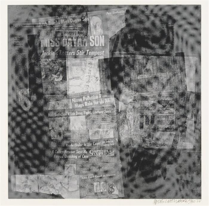 Robert Rauschenberg-Robert Rauschenberg - Surface Series # 37 (From Currents) (F. 108)-1970