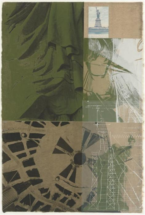 Robert Rauschenberg-Robert Rauschenberg - Statue Of Liberty (From New York, New York)-1983