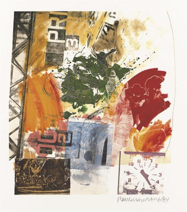 Robert Rauschenberg-Robert Rauschenberg - (I) Untitled / (II) Untitled-1984