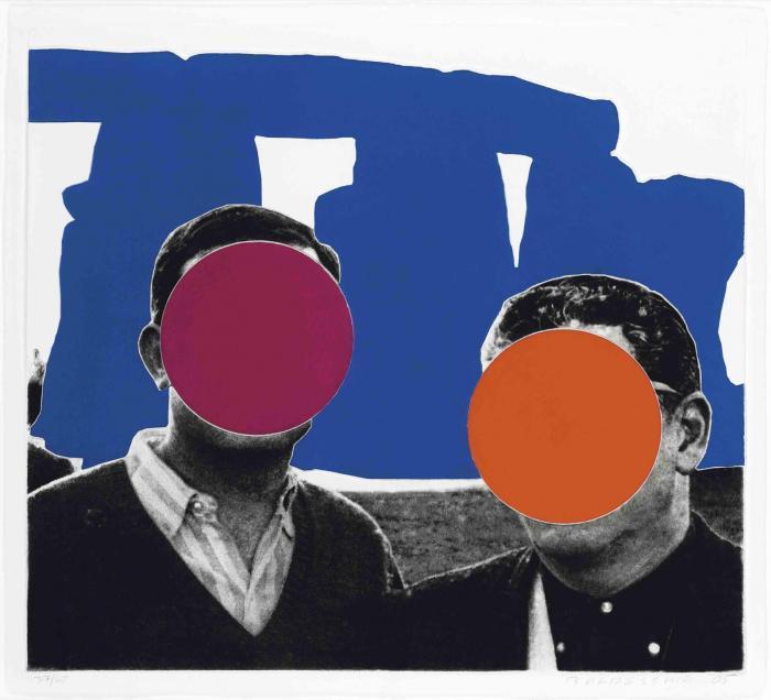 John Baldessari-Stonehenge (with Two Persons), Blue (C.-H. 156)-2005