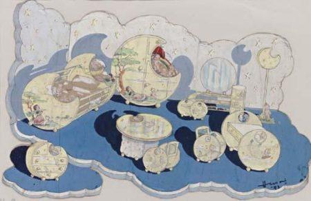 Maqbool Fida Husain-Untitled (Nursery Cartoon)-1943
