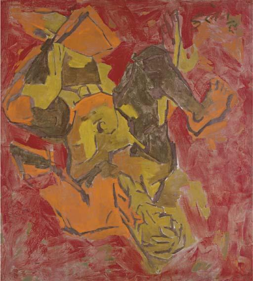 Maqbool Fida Husain-Man in Space-1964