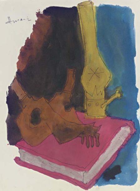 Maqbool Fida Husain-Untitled (Abstract)-