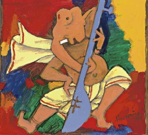 Maqbool Fida Husain-Dancing Ganesha-1998