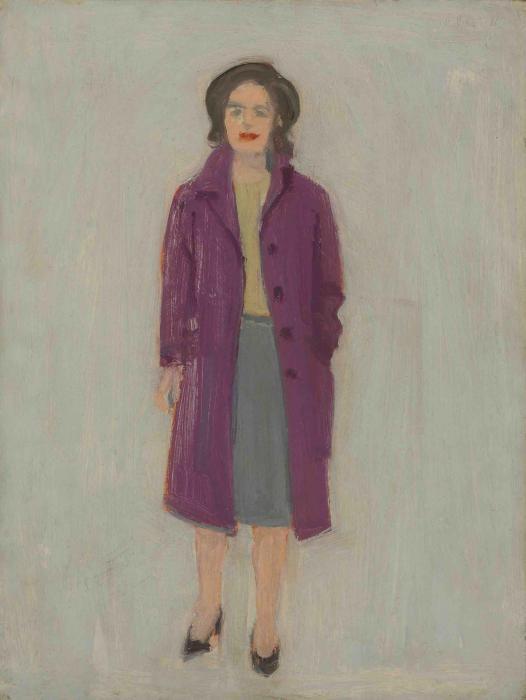 Alex Katz-Portrait of Ada in a Red Coat-1965