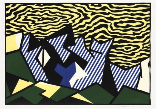 Roy Lichtenstein-Morton A Mort, from Expressionist Woodcut Series-1980