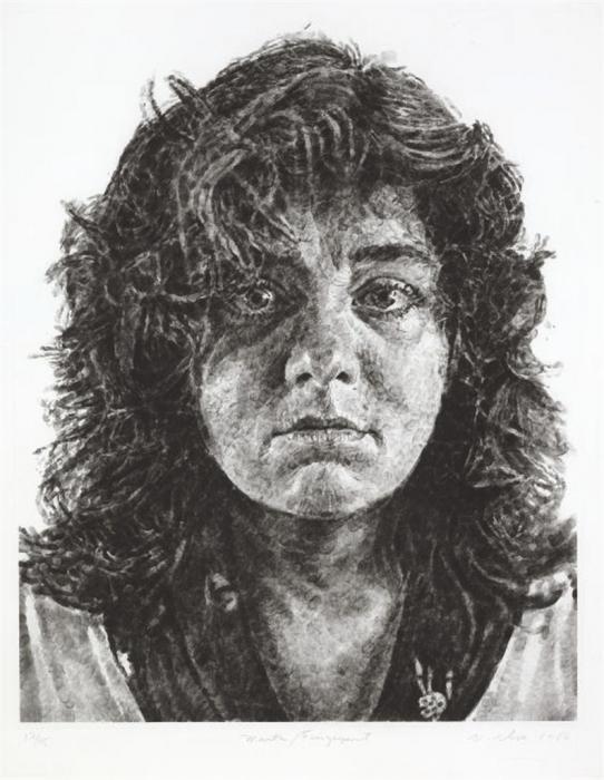 Chuck Close-Marta, Fingerprint-1986
