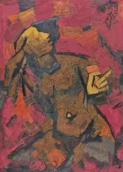 Maqbool Fida Husain-Woman-1960