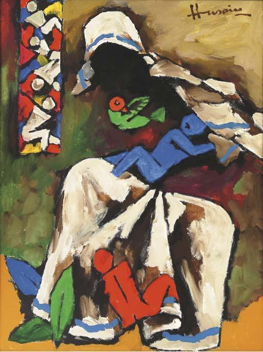 Maqbool Fida Husain-Mother Teresa-