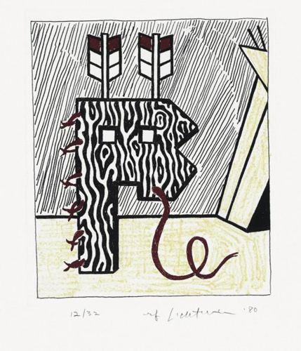 Roy Lichtenstein-Figure with Teepee-1980