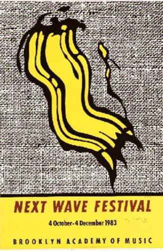 Roy Lichtenstein-Next wave festival; Untitled, from Reflection Series-1991