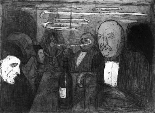 Edvard Munch-Christiana - Boheme II / Kristiania - Boheme II-1895