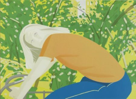 Alex Katz-Bicycle Rider / Bicycling in Central Park (Maravell 130)-1982