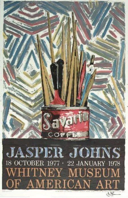 Jasper Johns-Savarin (Whitney Museum Poster) (see Universal Limited Art Editions 185)-1977