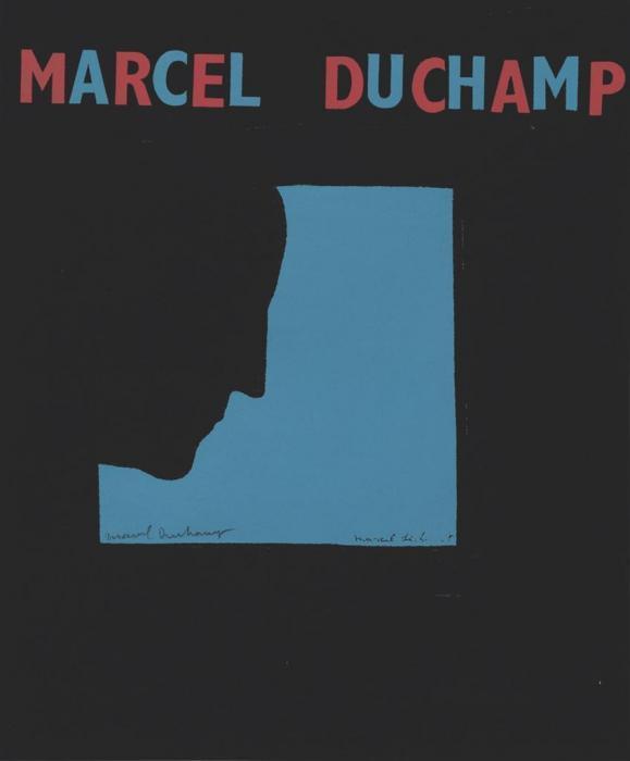 Marcel Duchamp-Poster after Self-Portrait in Profile (S. 565b) Autoportrait de profil (Fond bleu)-1959