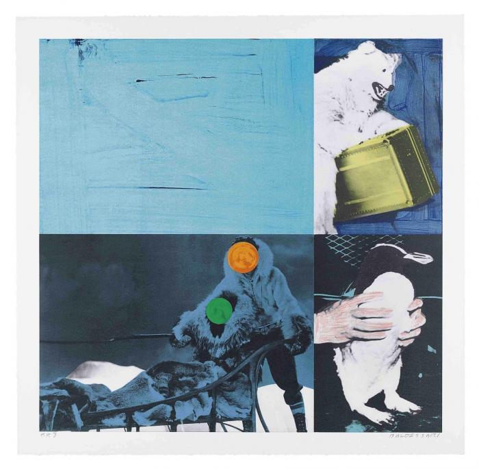 John Baldessari-Eskimo (Blue), from Cliche (C.H. 75)-1995
