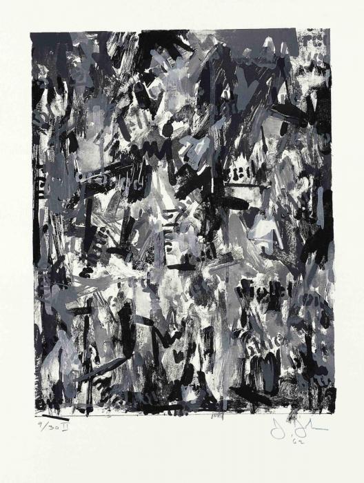 Jasper Johns-False Start II (ULAE 10)-1962