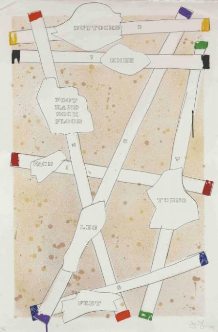 Jasper Johns-Sketch from Untitled I, from Casts from Untitled (ULAE 130)-1974