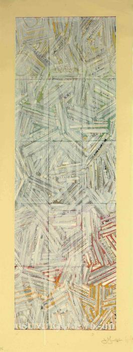 Jasper Johns-Usuyuki (ULAE 210)-1980