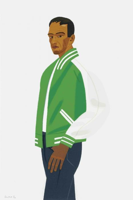 Alex Katz-The Green Jacket / Alex in Green Jacket; Passing / Self-portrait-1990