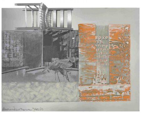 Robert Rauschenberg-Pegasits (From Roci Usa (Wax fire works))-1990