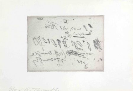 Cy Twombly-Sketches D, from Sketches-1967