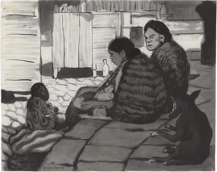 Diego Rivera-Mujeres-1935