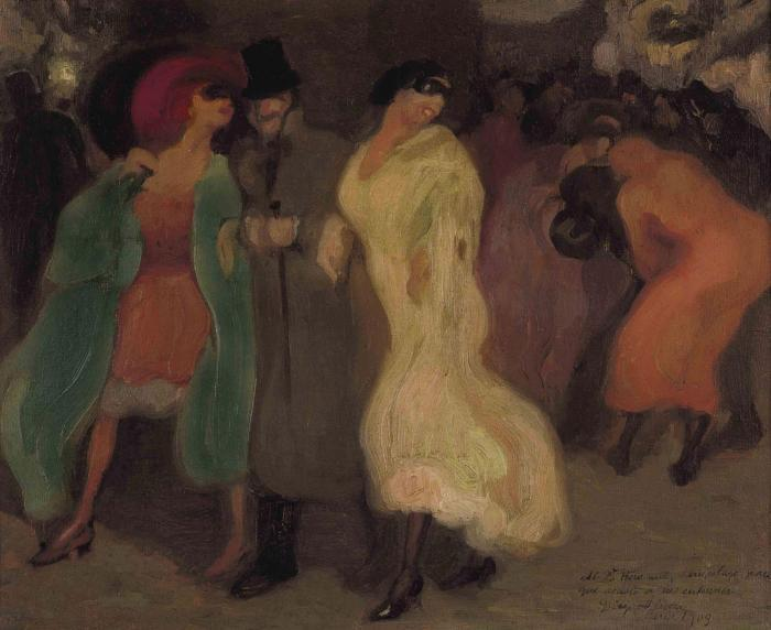 Diego Rivera-Escena nocturna (also known as Carnaval)-1909