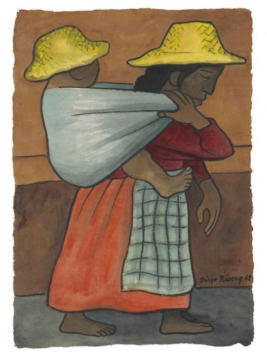 Diego Rivera-Mujer cargando nino-1942