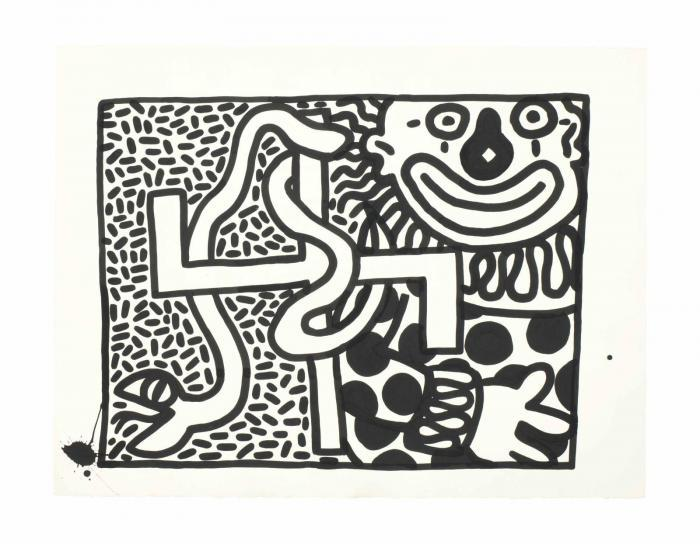 Keith Haring-Keith Haring - Untitled (Clowns)-1981