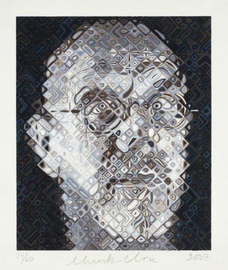 Chuck Close-Self-portrait-2007