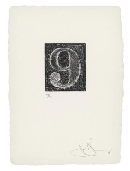 Jasper Johns-0-9 (A set of Ten Numerals)-1975