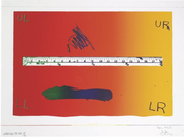 Jasper Johns-Untitled (ULAE 100)-1971
