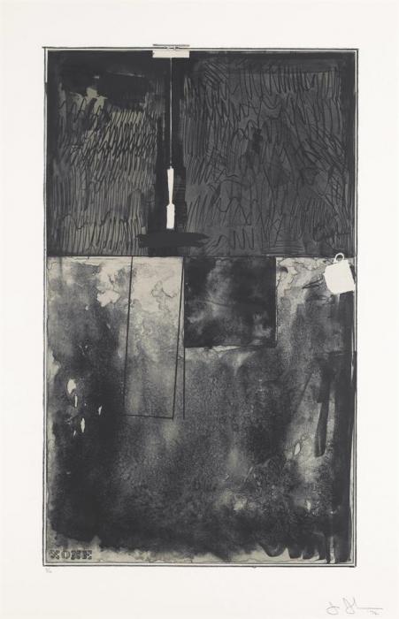 Jasper Johns-Zone, Black state (ULAE 106)-1972
