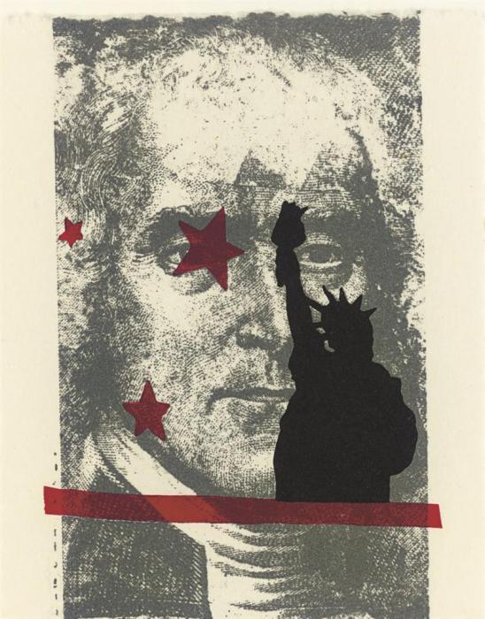 Robert Rauschenberg-Robert Rauschenberg - Spackle (From Harvey Gantt Portfolio)-1990