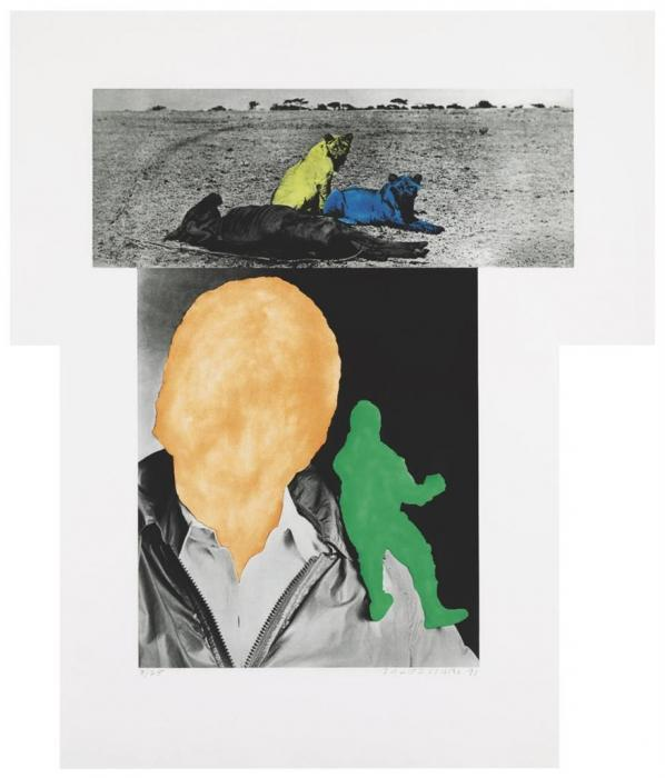 John Baldessari-Person with Conscience (Green); Animal quiscent-1991