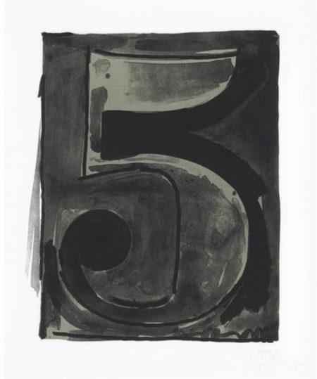 Jasper Johns-Figure 5, from Black Numeral Series (ULAE 49)-1968