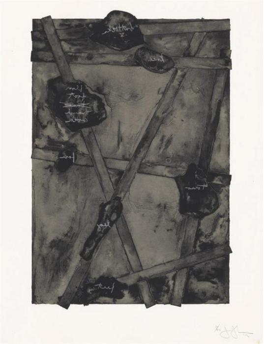Jasper Johns-Sketch from Untitled II (ULAE 131)-1974
