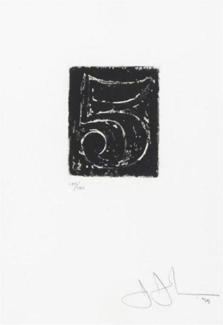 Jasper Johns-5 (ULAE 161)-1975