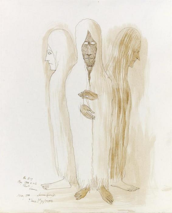 Leonora Carrington-Three Magdalens-1988