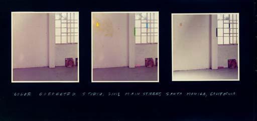 John Baldessari-Color Corrected Studio with Window-1973